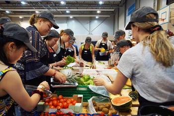 Forsyning av ingredienser til tevling på Landsstevnet i Vestfold 2019.