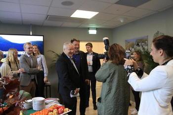 Daværende Landbruks- og matminister Bård Hoksrud var tilstede da prosjektet ble lansert. Foto: Norges Bondelag