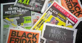 På tilbud: Black Friday- og Black Week-reklame. Foto: Lise Åserud / NTB scanpix