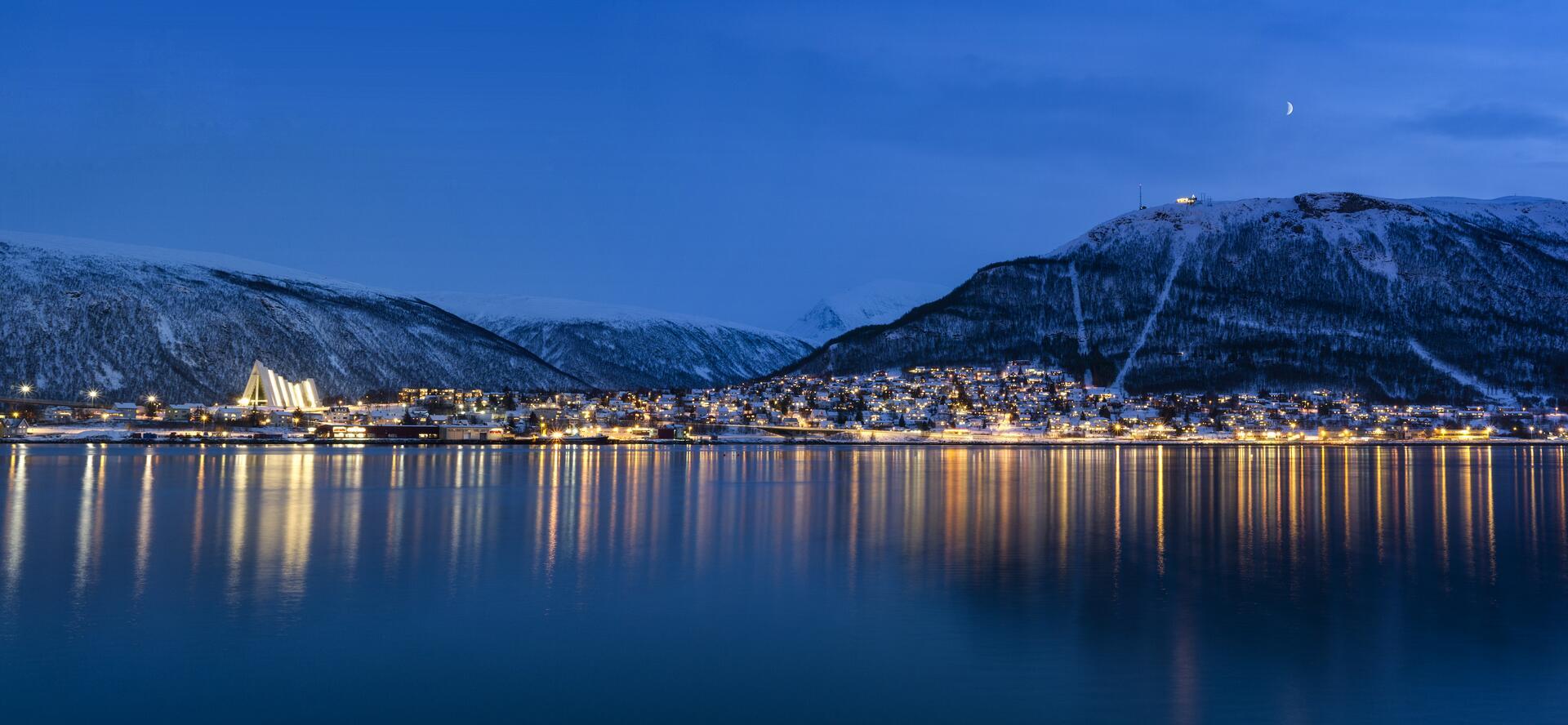 Tromsø om kvelden