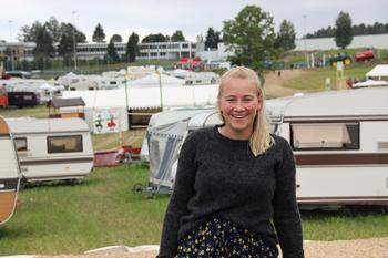 Inger Johanne Brandsrud elsker å være på Landsstevne. Her er hun i Hof, Vestfold der Landsstevne ble arrangert i 2019. Foto: Emma Gerritsen